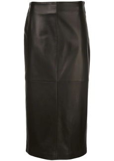Brunello Cucinelli leather pencil skirt