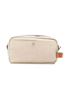 Brunello Cucinelli leather strap wash bag