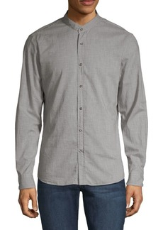 Brunello Cucinelli Leisure-Fit Mandarin Shirt