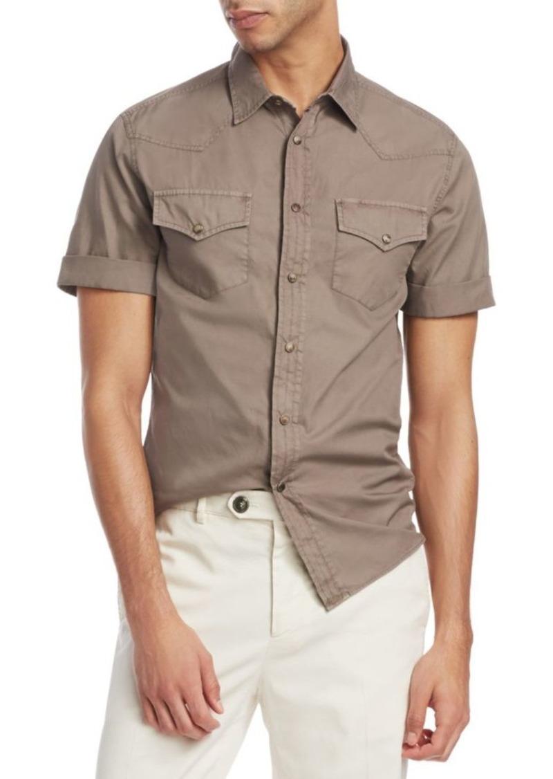 Brunello Cucinelli Leisure-Fit Short-Sleeve Shirt