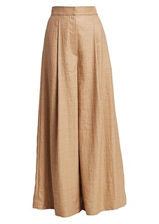 Brunello Cucinelli Linen Twill Extra Wide Leg Pants