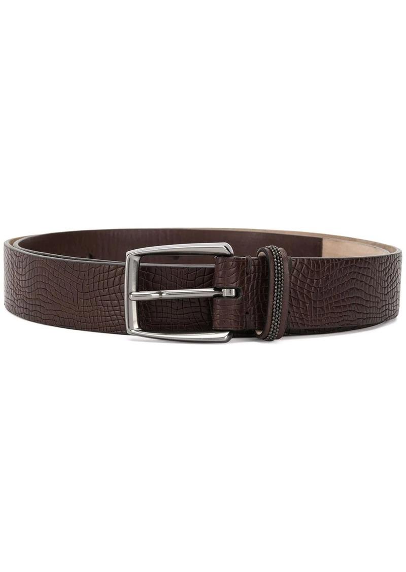 Brunello Cucinelli lizard-effect belt