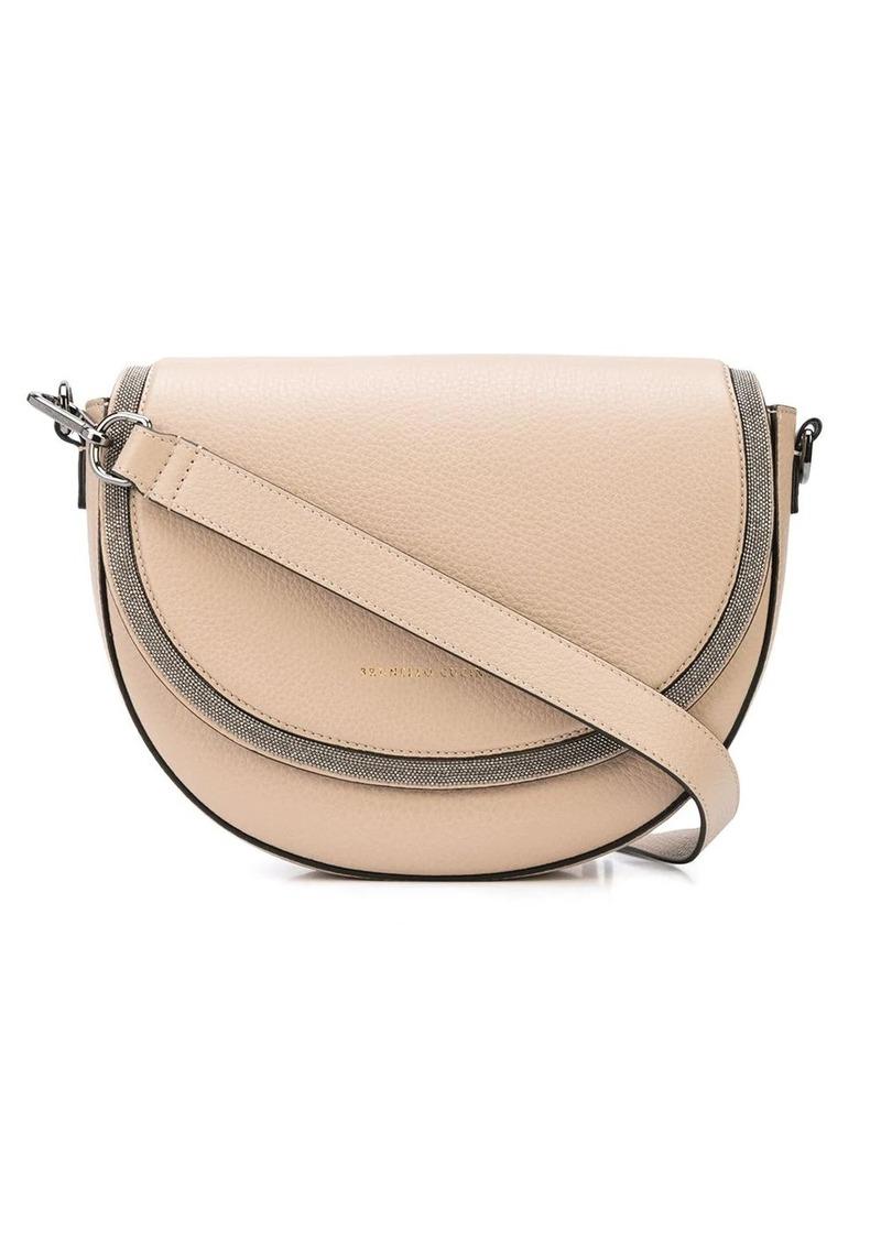 Brunello Cucinelli logo cross-body satchel bag