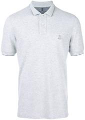 Brunello Cucinelli logo embroidered polo shirt