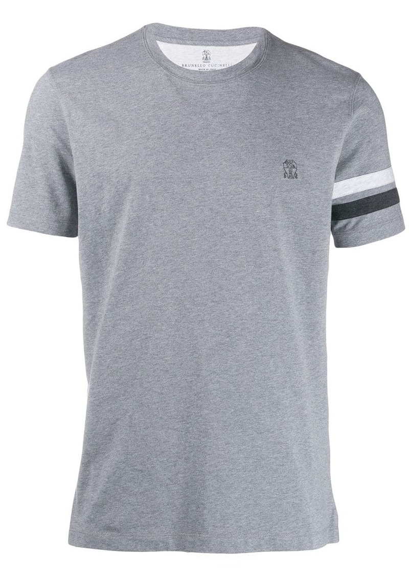 Brunello Cucinelli logo embroidered T-shirt