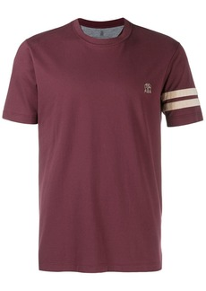 Brunello Cucinelli logo embroidered T-shirt
