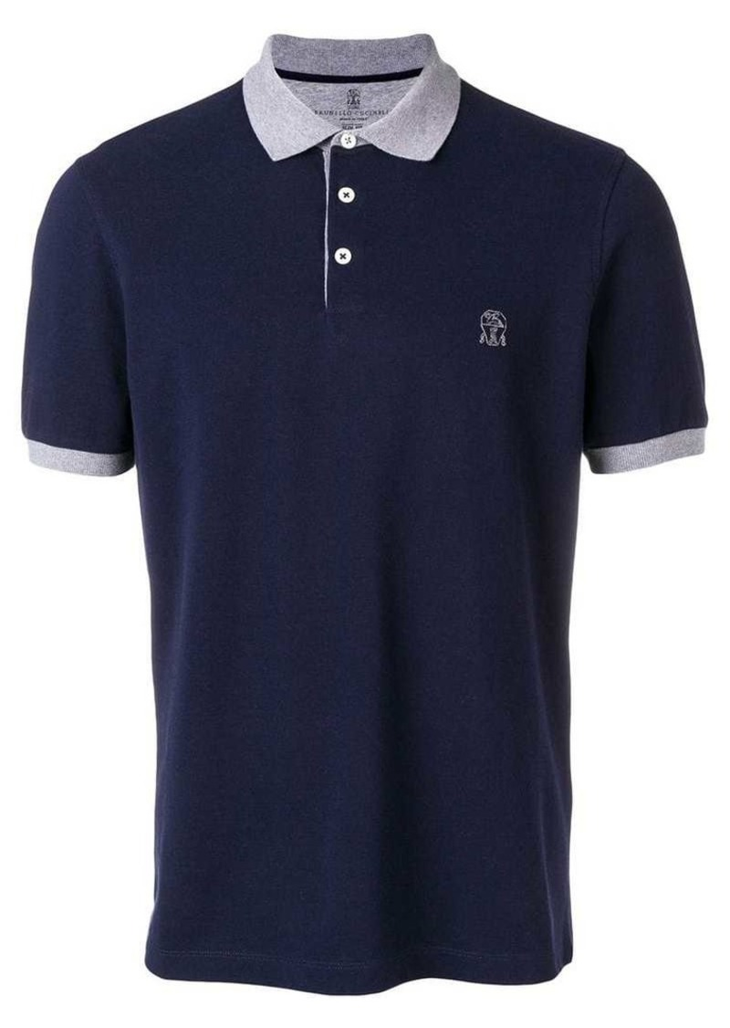 Brunello Cucinelli logo polo shirt