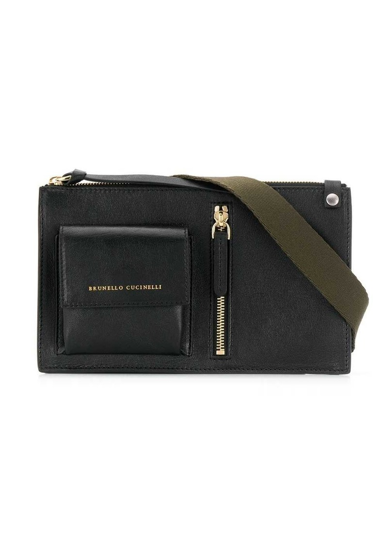 Brunello Cucinelli logo zipped belt bag