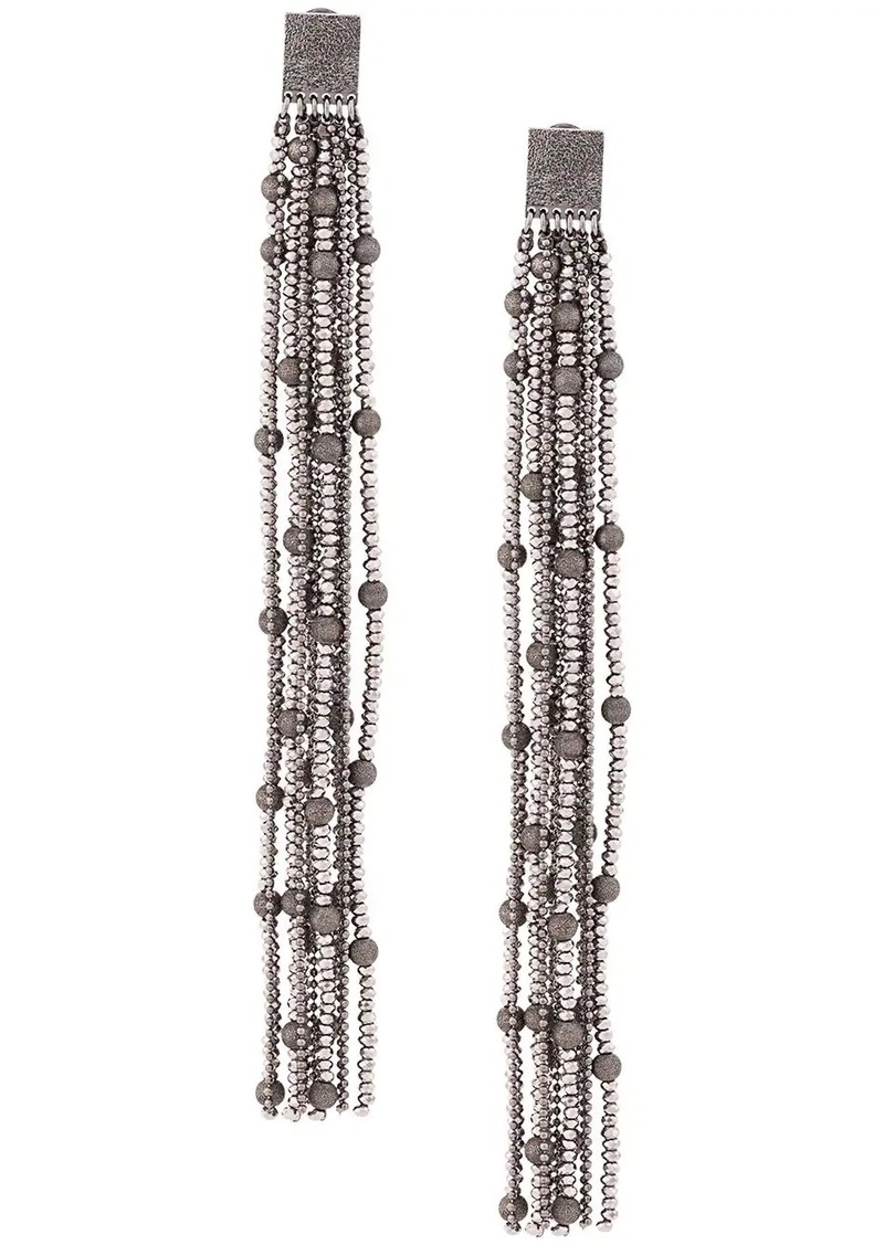 Brunello Cucinelli long chain earrings