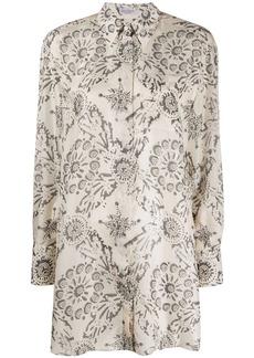Brunello Cucinelli long floral print shirt
