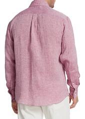 Brunello Cucinelli Long-Sleeve Linen Shirt
