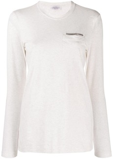 Brunello Cucinelli long sleeved jersey top