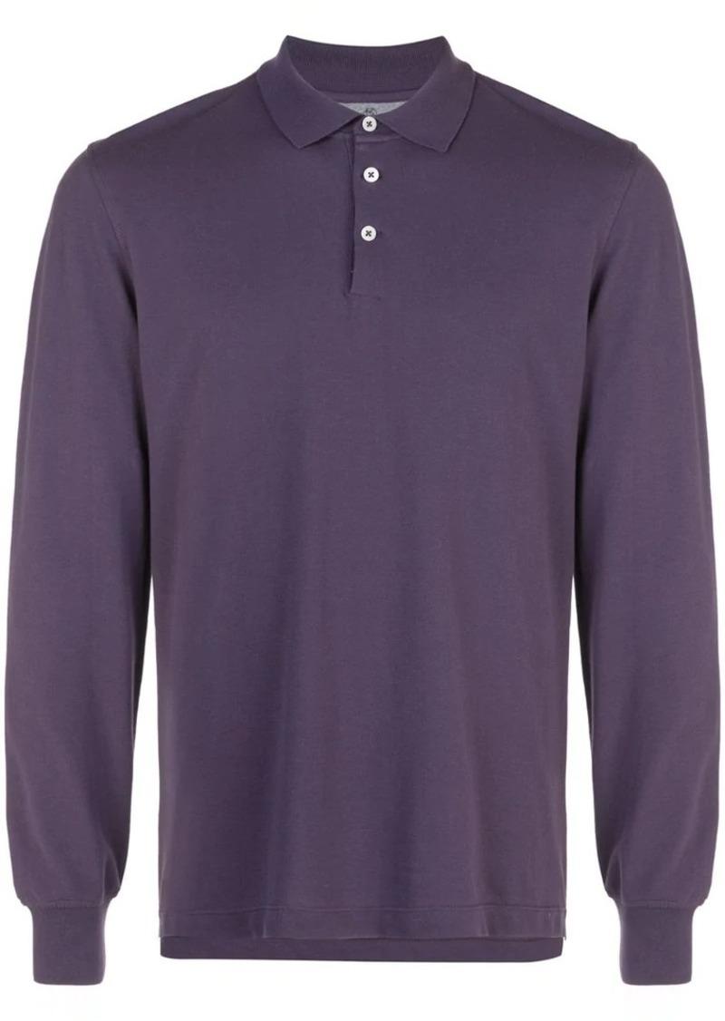 Brunello Cucinelli long sleeved polo shirt