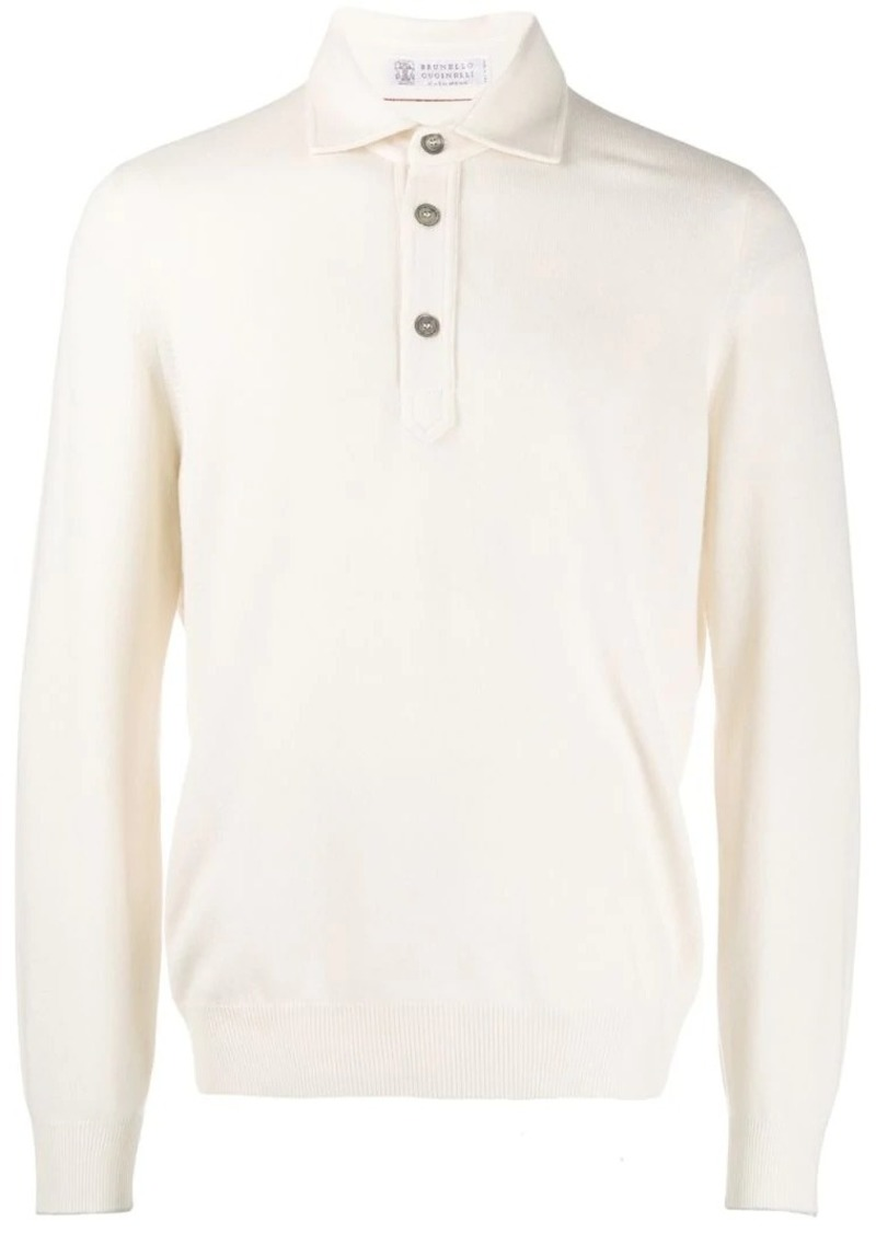 Brunello Cucinelli long sleeved polo top