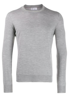 Brunello Cucinelli fine-knit long-sleeve jumper