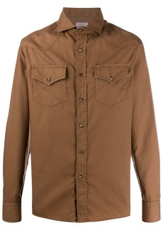 Brunello Cucinelli long-sleeved western shirt