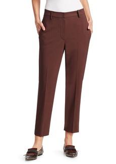 Brunello Cucinelli Loose Wool Cigarette Pants