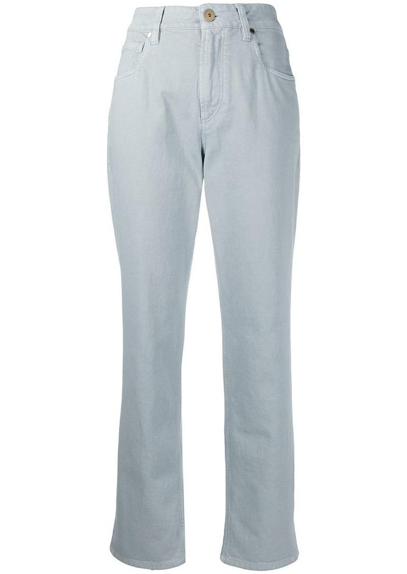 Brunello Cucinelli low-waist tapered jeans