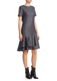 Brunello Cucinelli Lurex Flannel Short Sleeve Dress