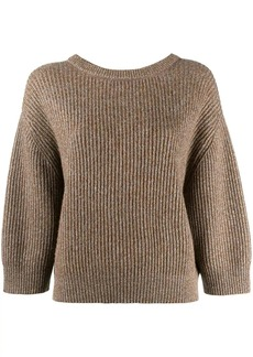 Brunello Cucinelli lurex knitted sweater