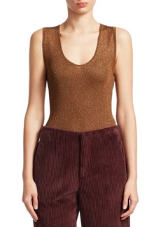 Brunello Cucinelli Lurex Scoopneck Tank Top