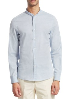Brunello Cucinelli Mandarin Button-Front Shirt