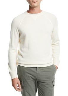 Brunello Cucinelli Men's Athletic Wool/Cashmere Crewneck Sweater