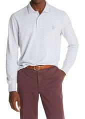 Men's Brunello Cucinelli Long Sleeve Cotton Pique Polo