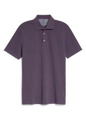 Men's Brunello Cucinelli Short Sleeve Cotton Pique Polo