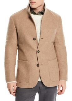 Brunello Cucinelli Men's Cashmere Patch-Pocket Jacket
