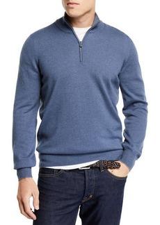 Brunello Cucinelli Men's Cashmere Half-Zip Pullover Sweater