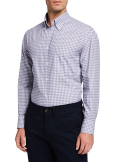 Brunello Cucinelli Men's Check Basic-Fit Sport Shirt
