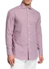 Brunello Cucinelli Men's Check Woven Sport Shirt