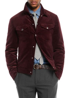 Brunello Cucinelli Men's Corduroy Utility Jacket