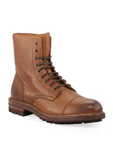 Brunello Cucinelli Men's Deerskin Leather Lace-Up Boots
