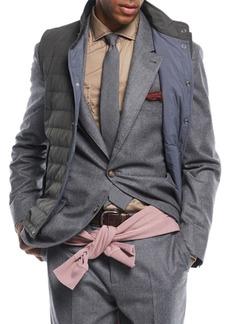 Brunello Cucinelli Men's Flannel Wool Two-Piece Suit