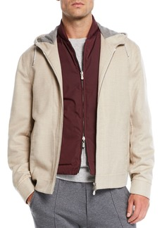 Brunello Cucinelli Men's Hooded Cashmere Jacket