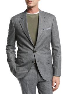 Brunello Cucinelli Men's Houndstooth Two-Piece Wool Suit