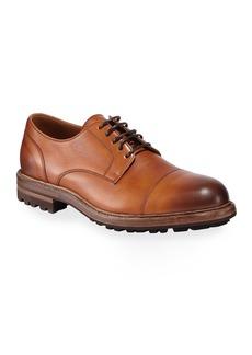 Brunello Cucinelli Men's Leather Lug-Sole Derby Shoes