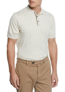 Brunello Cucinelli Men's Linen/Cotton Polo Shirt