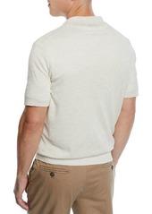 Brunello Cucinelli Men's Linen/Cotton Polo Shirt