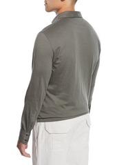 Brunello Cucinelli Men's Long-Sleeve Polo Shirt