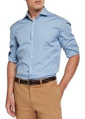 Brunello Cucinelli Men's Mini Stripe Sport Shirt
