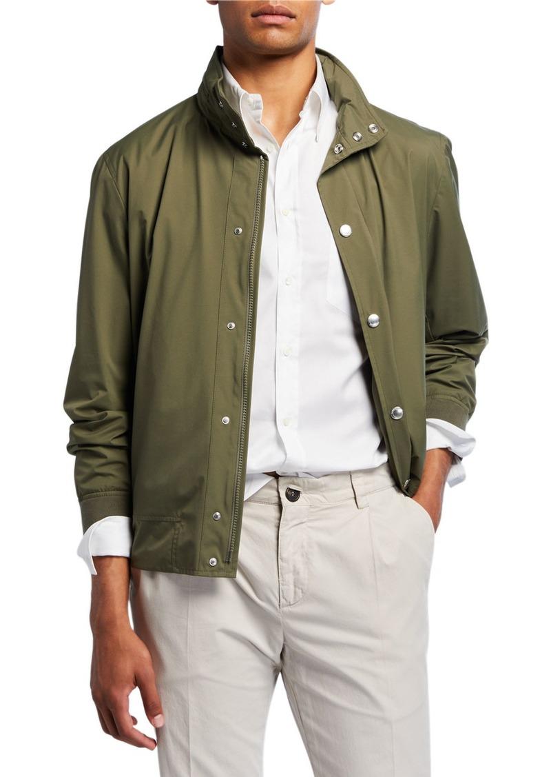 Brunello Cucinelli Men's Nylon Bomber Jacket