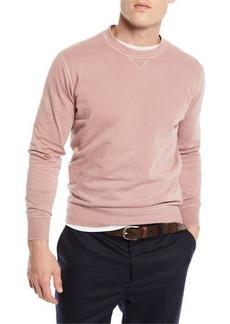 Brunello Cucinelli Men's Raglan Crewneck Sweater