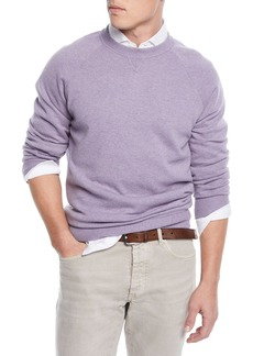 Brunello Cucinelli Men's Raglan-Sleeve Crewneck Sweater