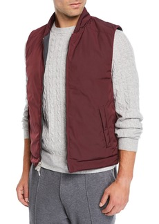 Brunello Cucinelli Men's Reversible Zip-Front Quilted Vest