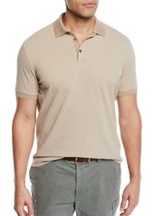 Brunello Cucinelli Men's Solid Pique Polo Shirt
