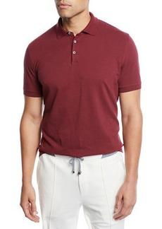 Brunello Cucinelli Men's Solid Pique Polo Shirt