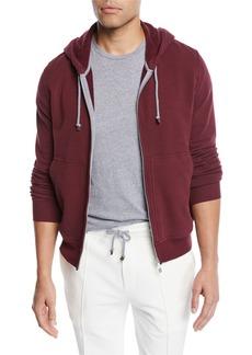 Brunello Cucinelli Men's Spa Cotton-Stretch Hoodie Sweatshirt
